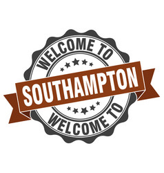 Southampton round ribbon seal vector