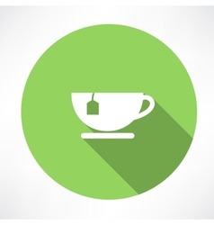 Cup of tea with tea bag vector