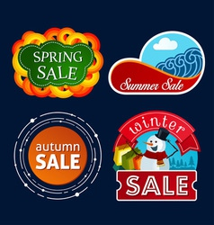 Various seasonal sale event tittle vector