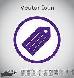 Label symbol label for clothing or goods vector