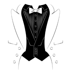 Mens coat with a shirt and tie print on clothes vector