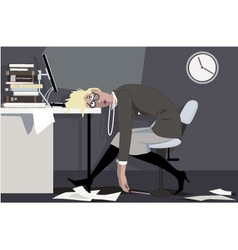 Working overtime vector image