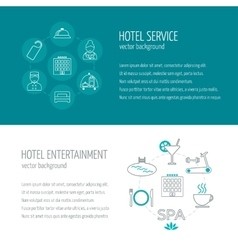Horizontal banners of hotel service and vector