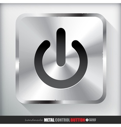 Metal start power button vector