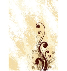 Brown floral art vector
