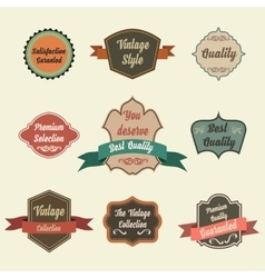 Set of retro vintage badges and labels pin badge vector
