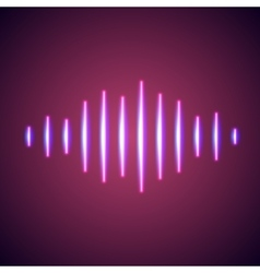 Nightlife styled glowing neon music wave vector
