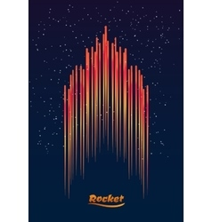 Abstract the rocket in the background vector image vector image
