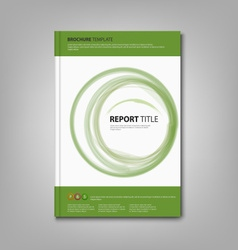 Brochures book or flyer with green abstract vector image vector image