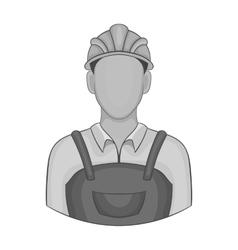Builder icon black monochrome style vector