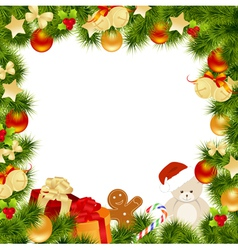 Christmas card border vector