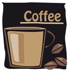 cup o coffee vector image vector image