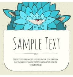 Cute doodle cartoon monster greeteng or invitation vector image