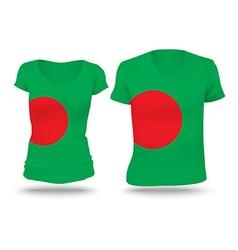 Flag shirt design of bangladesh vector