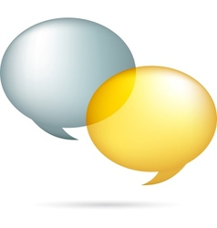 Gold and silver speech bubbles vector image vector image
