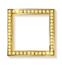 Gold frame cinema on a white background vector