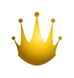 golden king crown vector image