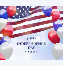 Independence day of usa 4 july background vector
