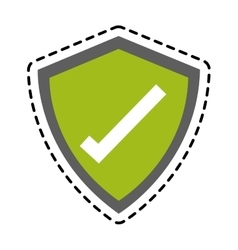 Isolated check mark inside shield design vector