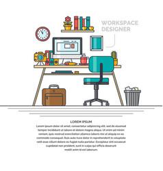 Linear workspace for designer vector
