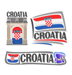 logo for croatia vector image