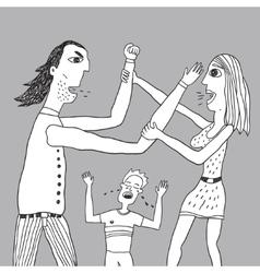 Parents quarrel vector