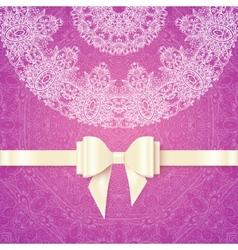 Pink romantic vintage wedding invitation vector image vector image