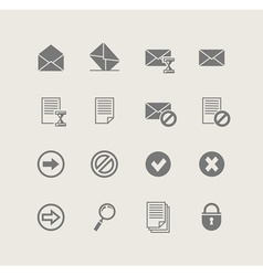 post set of simple icons vector image vector image
