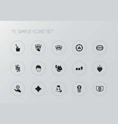 Set of 15 editable excitement icons includes vector