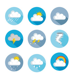 set of weather status icons vector image vector image