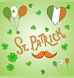 St patrick s day holiday greeting card vector