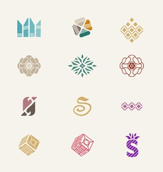 Stone icons set vector image vector image