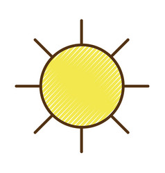Sun and hot natural weather vector