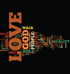 The power of love text background word cloud vector