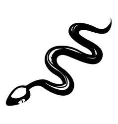 tropical snake icon simple style vector image vector image