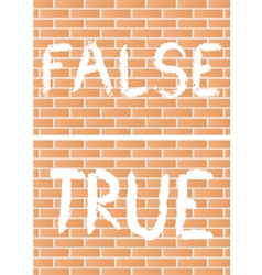 True and false vector