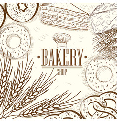 vintage bakery vector image vector image