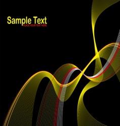 wave stroke vector image vector image