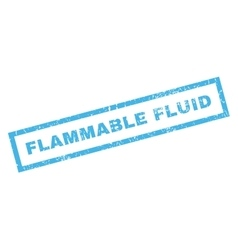 Flammable fluid rubber stamp vector