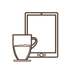 Coffee espresso technology communication icon vector