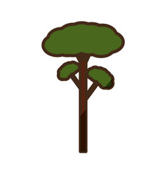 Tree natural ecology vector