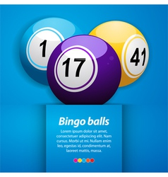 Bingo balls and sample text vector