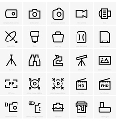 Photo and optical icons vector image