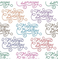 Happy birthday seamless background pattern vector