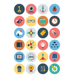 Flat seo and marketing icons 4 vector