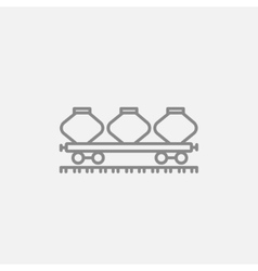 Cargo wagon line icon vector image