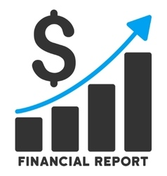 Financial report icon with caption vector