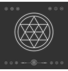 Set of minimal geometric shapes vector