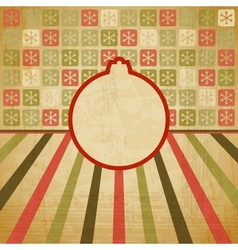 Retro Christmas Bauble Background vector image