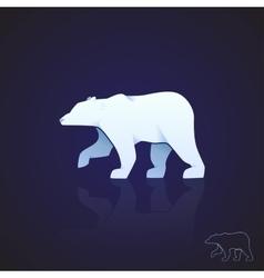 Abstract logo polar bear vector image